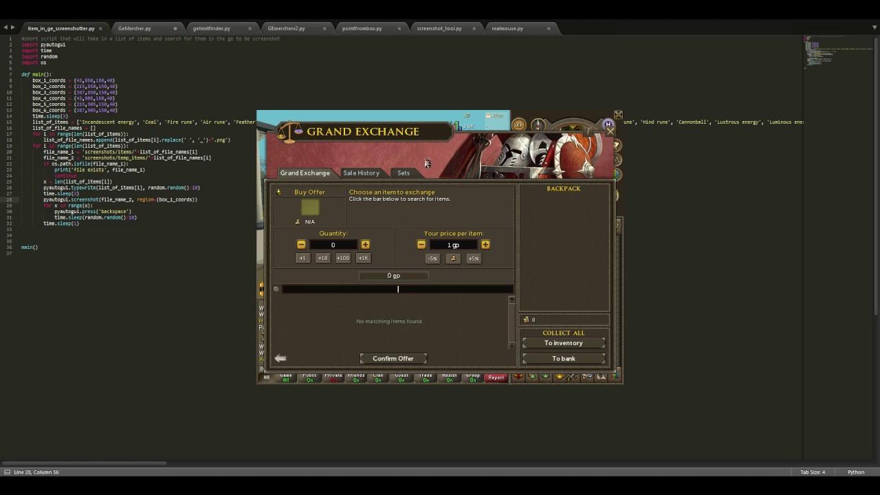 Python Runescape Bot
