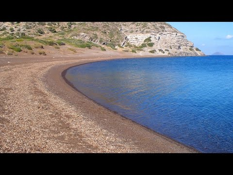 Camping on a remote beach on the Greek islands