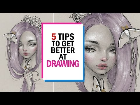 5 TIPS TO IMPROVE AT DRAWING || 30 Days of Art Episode 25