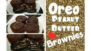 Oreo Peanut Butter Brownie Cupcakes!