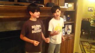 @RoneyBoys (Ian and Isaac) sing Michael Jackson Rockin Robin