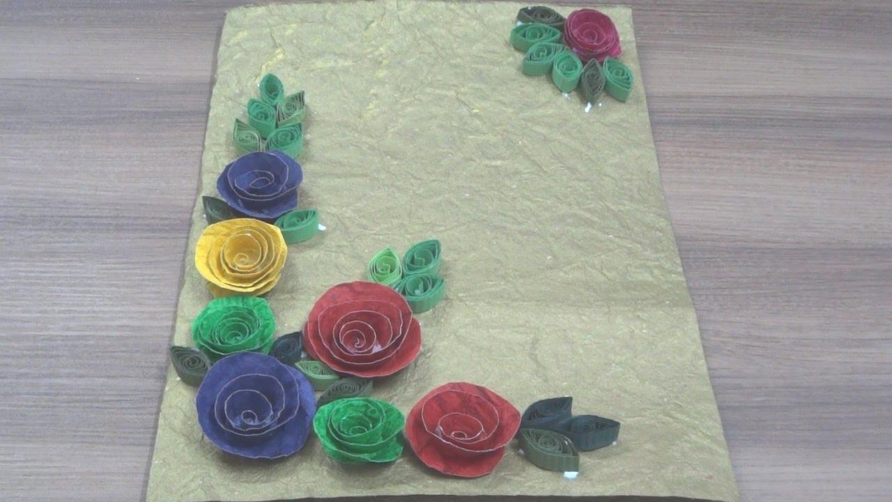 diygreeting cardhand made sheet flowerssimple steps