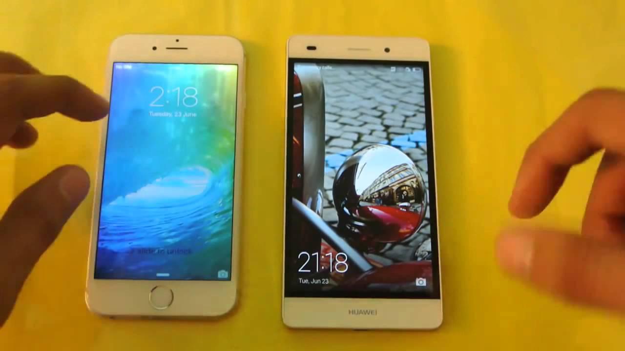 iphone 5 vs huawei p8 lite