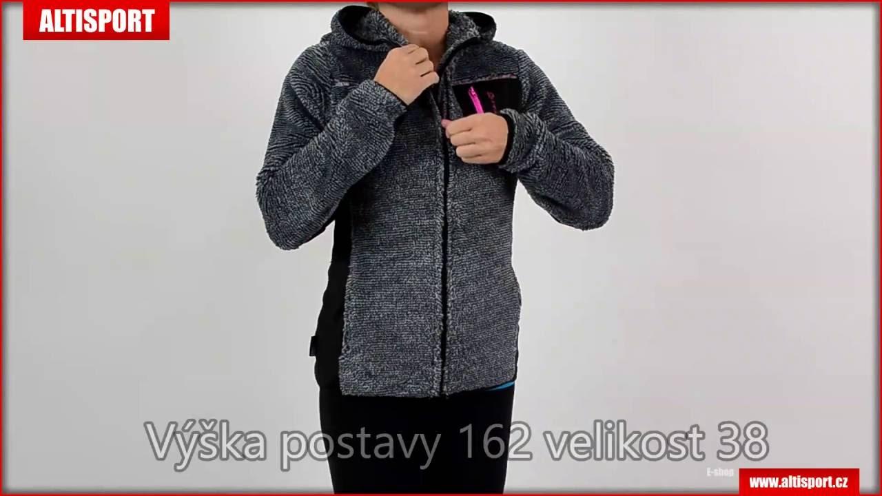 dámská fleece mikina alpine pro moosa světle šedá - YouTube b65630ae0ea