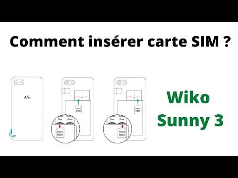 inserer carte sim wiko sunny Wiko Sunny 3 insérer Carte SIM   YouTube