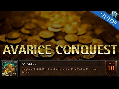 Diablo 3 Avarice Conquest Guide