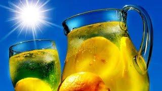 Холодный зеленый чай с лимоном  в домашних условиях.(В жару всегда так хочется чего-нибудь освежающего! Так что же мешает нам приготовить вкусный напиток в дома..., 2015-06-12T08:17:03.000Z)
