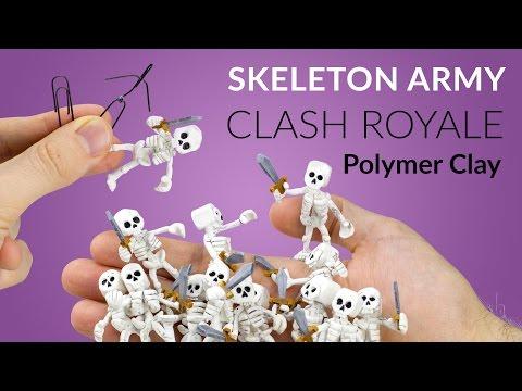 Skeleton Army (Clash Royale) – Polymer Clay Tutorial
