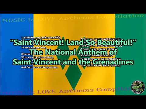 Saint Vincent and The Grenadines National Anthem with music, vocal and lyrics English