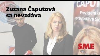 Prezidentské voľby 2O19: Zuzana Čaputová sa nevzdáva