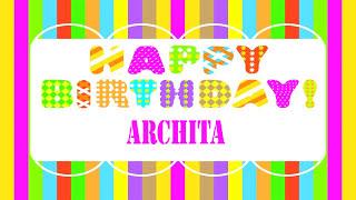 Archita Wishes & Mensajes - Happy Birthday