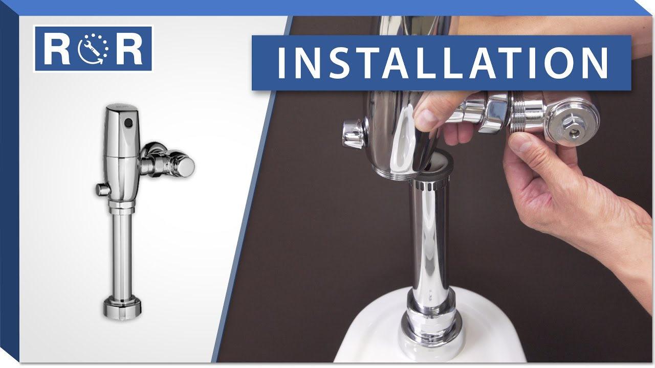 american standard selectronic flushometer installation repair and replace [ 1280 x 720 Pixel ]