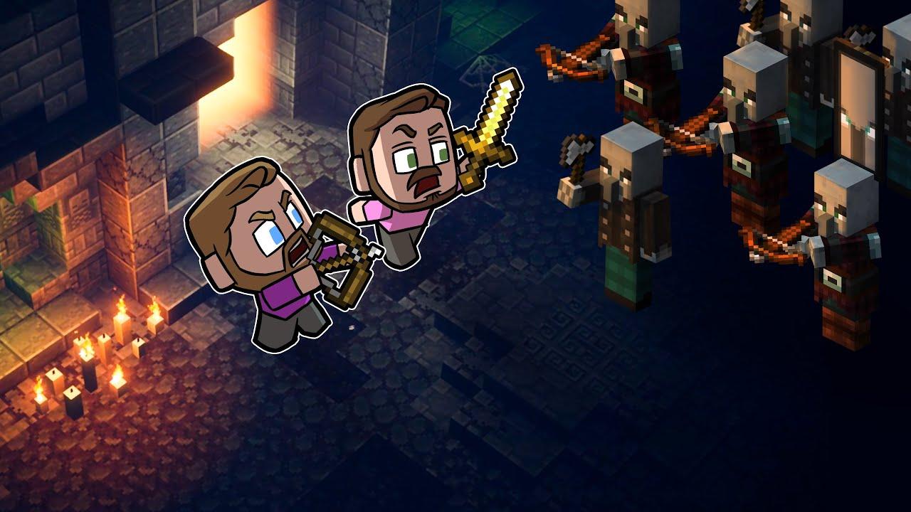 Exploring DUNGEONS In Minecraft!