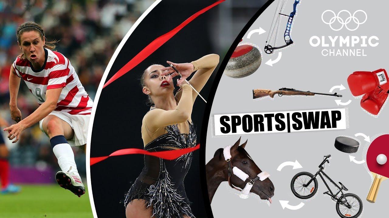 Football vs Rhythmic Gymnastics: Margarita Mamun & Heather O'Reilly Switch | Sports Swap Ch