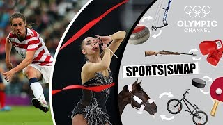 Football vs Rhythmic Gymnastics: Margarita Mamun & Heather O'Reilly Switch | Sports Swap Challenge