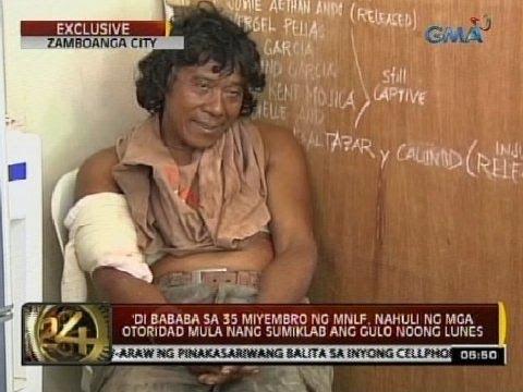 24 Oras: Sumukong miyembro ng MNLF sa Zamboanga City, pinangakuan umano ng pera
