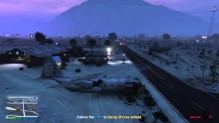[PS4] GTA5  A Titan Job  FAIL # 1 Forgot the landing gears!!