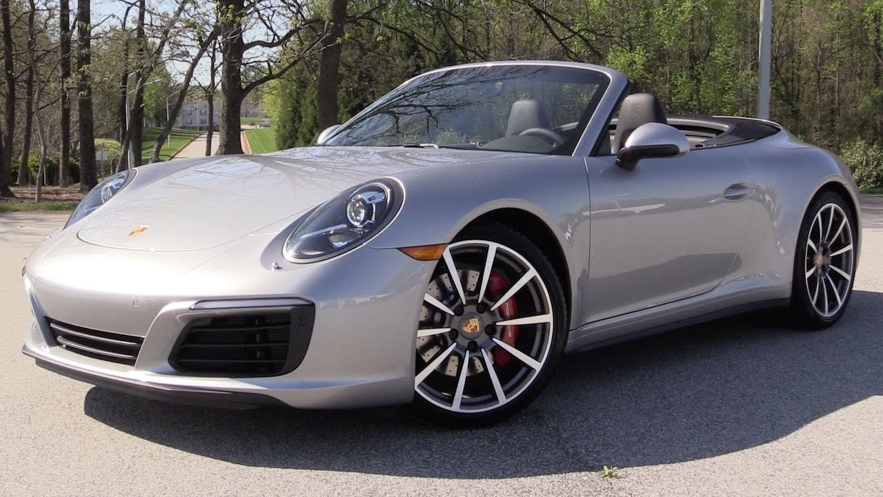 2017 Porsche 911 Carrera 4s Cabriolet Start Up Road Test In