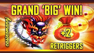 🐉GRAND 'BIG' WIN!🐉 +2 RETRIGGERS! 5 DRAGON GRAND SLOT! - (Casinomannj) - Slot Machine Bonus