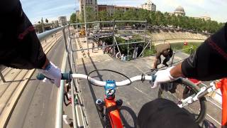 Helmet Cam Shows Rider Attempting Big BMX Trick and Coming Up Short