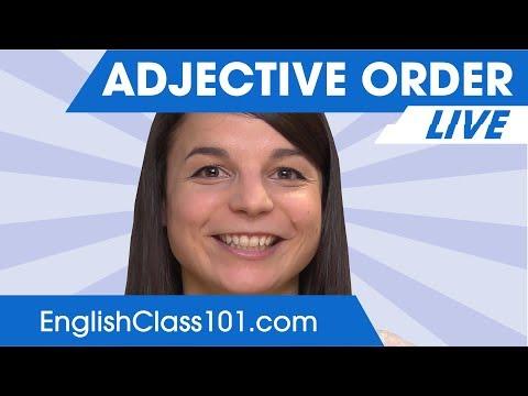 Adjective Order - Learn English Grammar 🔴
