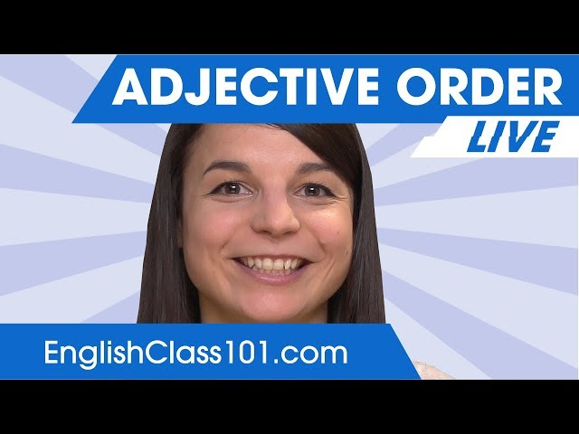Adjective Order - Learn English Grammar 🔴
