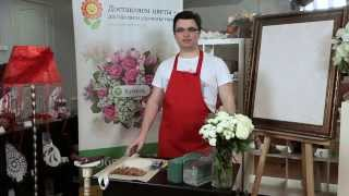 Мастер-класс флориста композиция «цветочный торт»(, 2014-12-17T10:48:34.000Z)