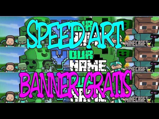 Banner de Minecraft animado / FREE DOWLOAND - Editable con Photoshop