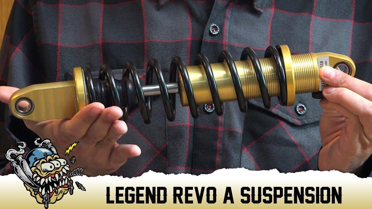 Legend Suspensions - Revo-A Shocks - fits '91-'17 Dyna Models - Black or  Gold