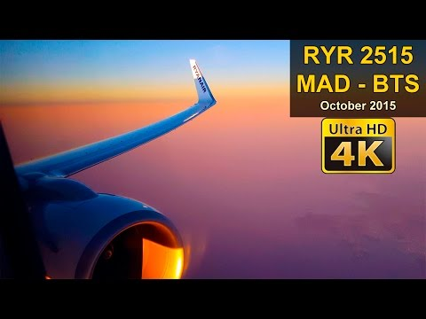 Flight Experience | Madrid - Bratislava | RYANAIR Full Flight