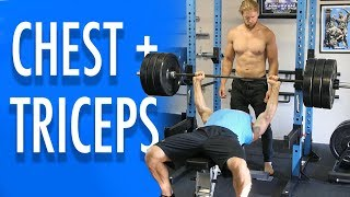 CHEST and TRICEPS WORKOUT | Buff Dudes New Gym Routine 2019