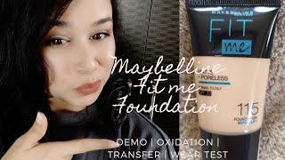 New Maybelline fitme foundation wit Clay review Demo oxidatn transfr amp wear test Prerna