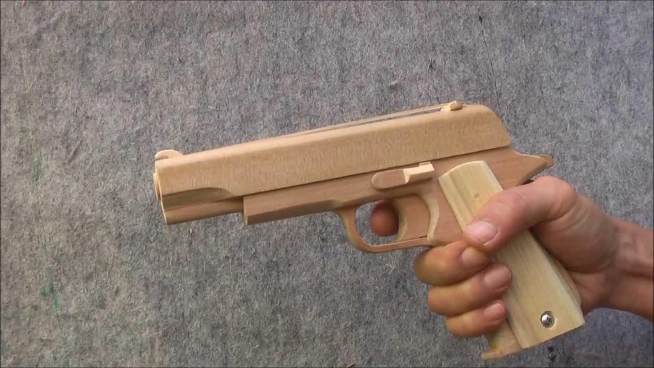 BLOW⇔BACK RUBBER BAND GUN 02.0 COLT M1911 - YouTube
