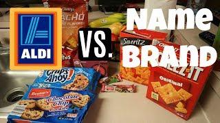 Aldi vs. Name Brand Taste Test!