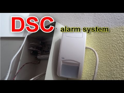 How to install simple home alarm system DSC 510, DSC 550 motion, door contact etc.