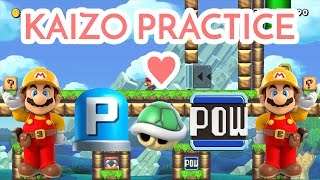 Super Mario Maker - Kaizo Practice Level - Kaizo Shenanigans - Level Feature!