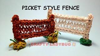 Rainbow Loom Picket Style Fence Advanced Charm Tutorials By Crafty Ladybug. Wonder Loom, Diy Loom