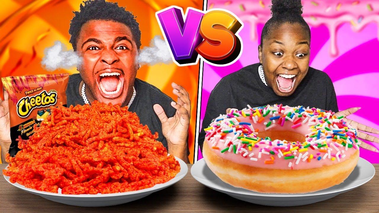 SWEET VS SPICY FOOD CHALLENGE