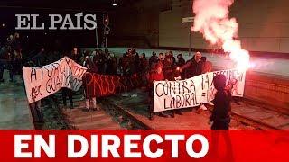 DIRECTO | HUELGA GENERAL  del 18 de octubre en CATALUÑA