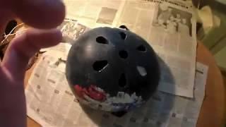Видеоурок - как покрасить велосипедный шлем