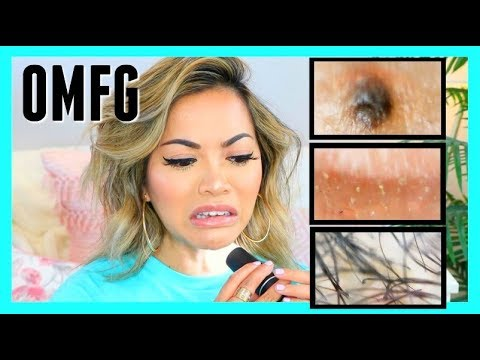 How My Makeup & No Makeup Looks UNDER A MICROSCOPE! (nasty af omg)