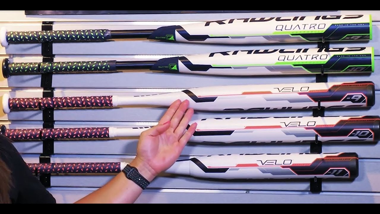 Differences Between Rawlings Quatro and Velo Softball Bats