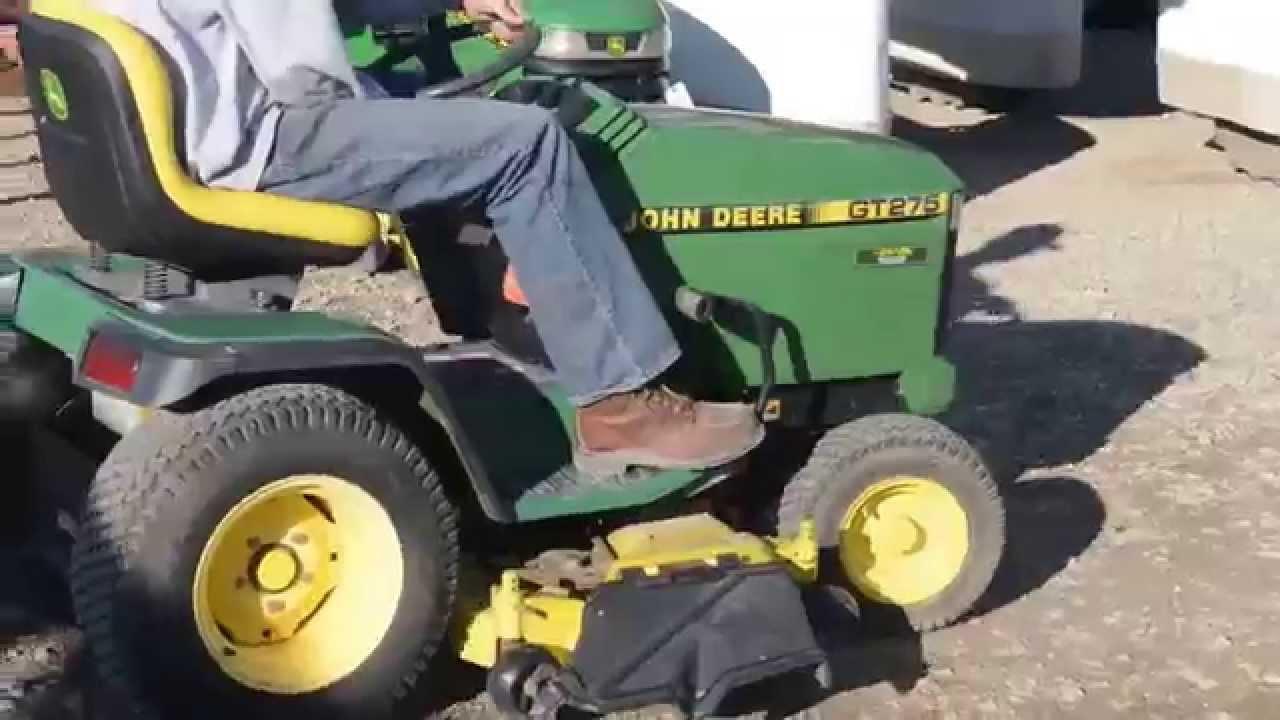 Garden Tractor Without Mower Deck : John deere gt lawn tractor quot deck youtube