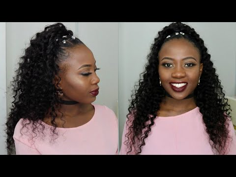 half-up-half-down-quick-weave-hairstyle-on-short-natural-4c-hair-tutorial- -tinashe-hair