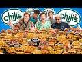 We Ate Chili's Entire Menu.. 50,000 Calories Mukbang