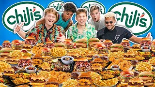 We Ate Chili's Entire Menu.. 50,000 Calories Mukbang