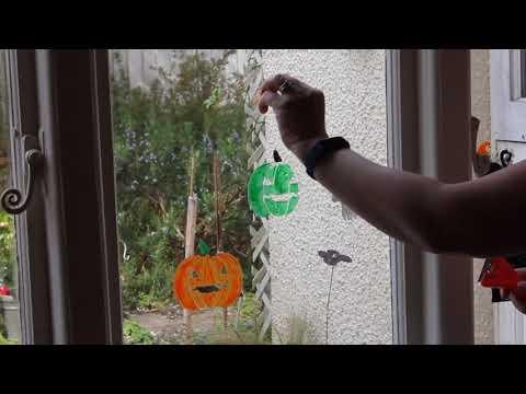 Removing Peelable Glass Paint stencils
