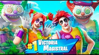 4 PAYASOS EN FORTNITE !! FORTNITE BATTLE ROYALE Makigames