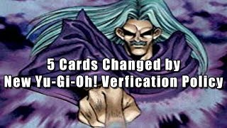 5 Cards Changed by New Yu-Gi-Oh! Verification Policy