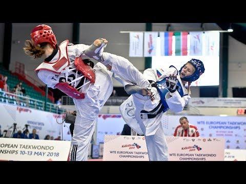Tatiana Kudashova (RUS) Vs Inese Tarvida (LAT). European Taekwondo Championships Kazan-2018